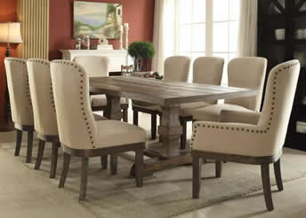 New North Shore Dining Table And 8 Chairs Part 77