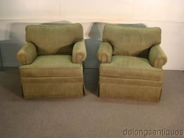 Ethan Allen Pair Of Club Chairs Part 82